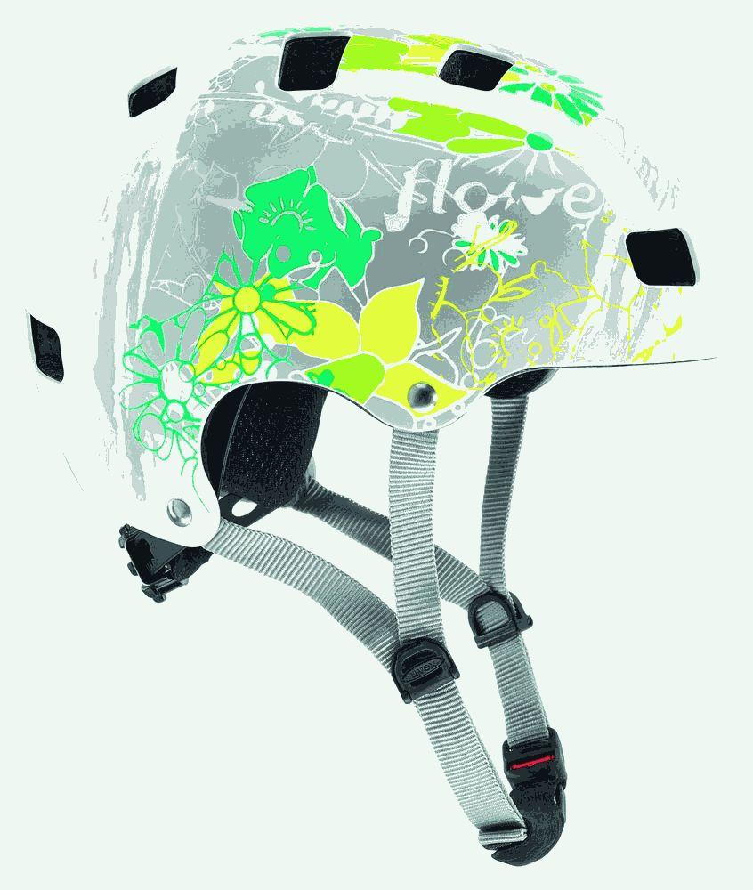 uvex kinder fahrradhelm kid 3 white flower 55 58 cm ebay. Black Bedroom Furniture Sets. Home Design Ideas